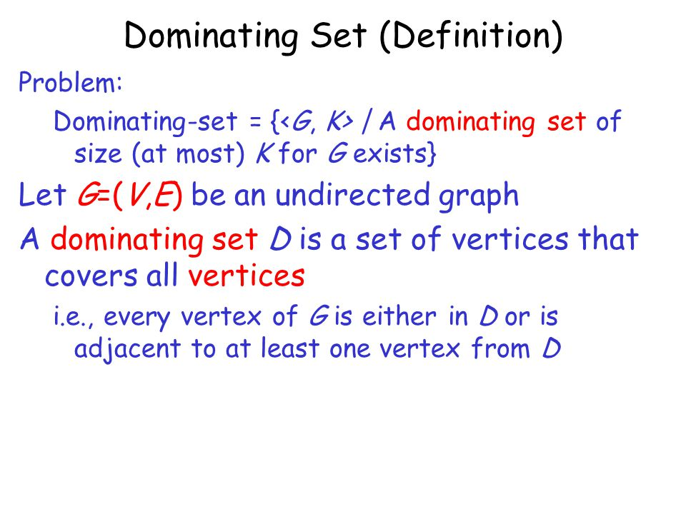 Dominating Set (Definition)