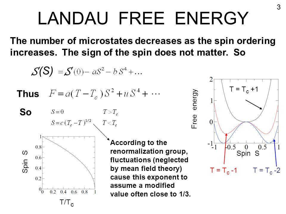 LANDAU FREE ENERGY S (S)