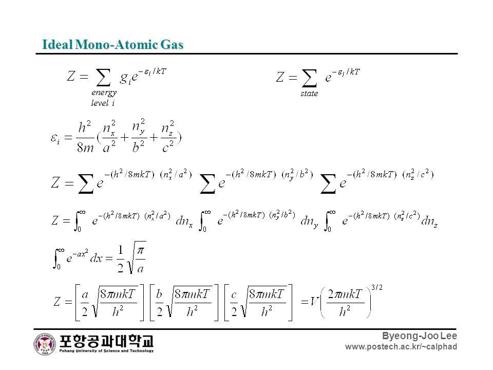 Ideal Mono-Atomic Gas