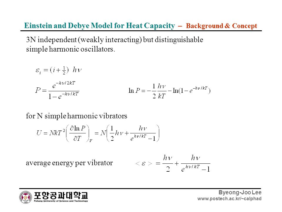 Einstein and Debye Model for Heat Capacity – Background & Concept