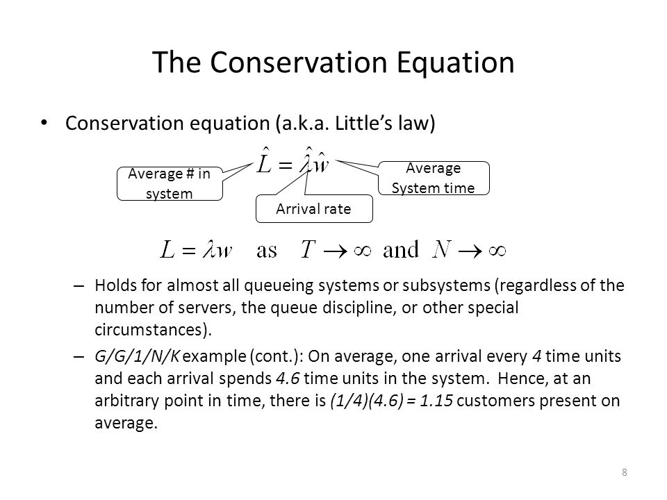 The Conservation Equation