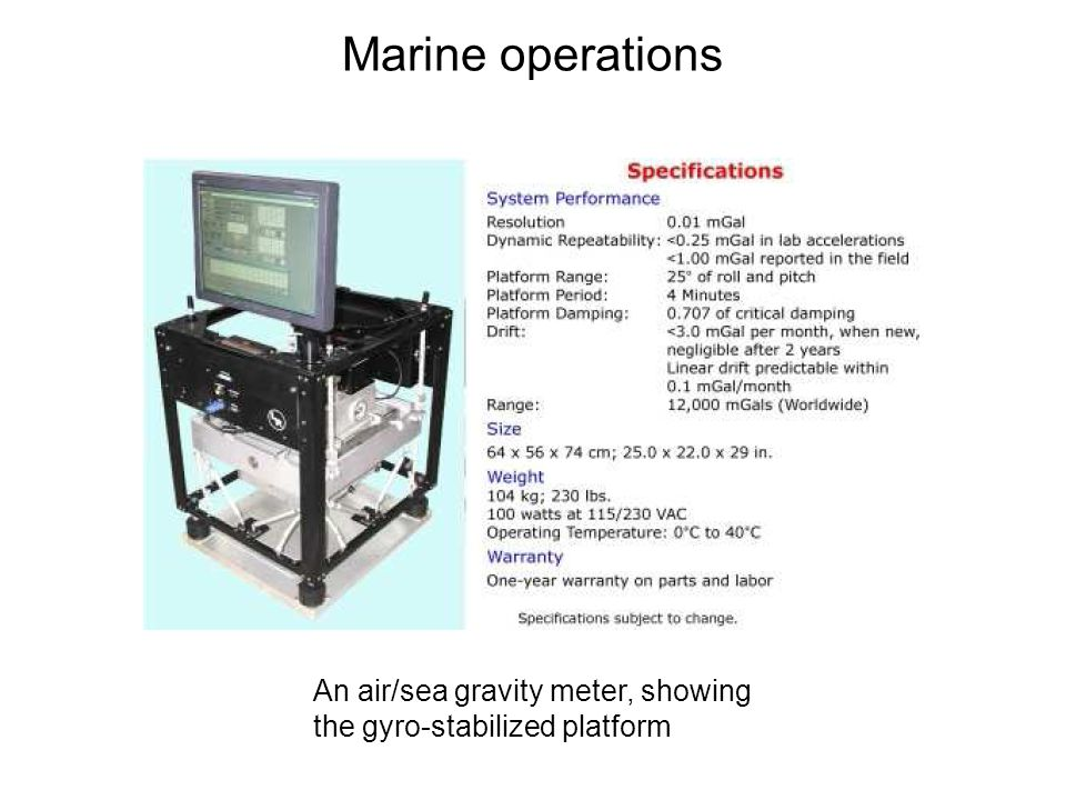 Marine operations ii) Shipborne measurements.