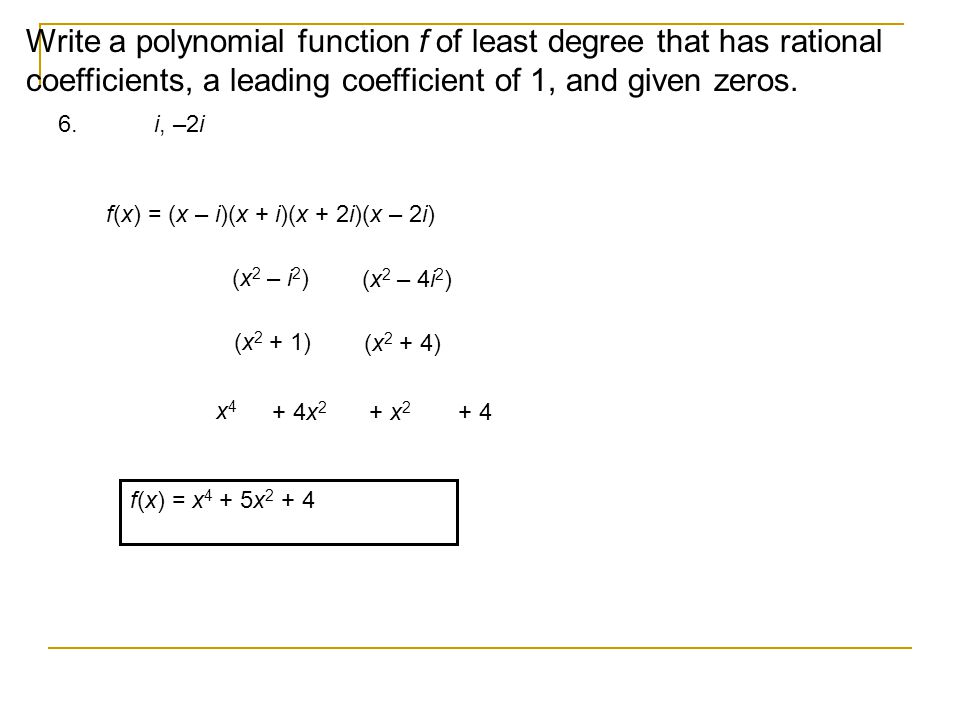 Write a polynomial equation with rational coefficients
