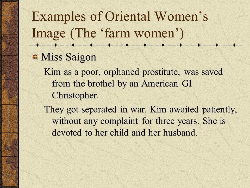 Examples of Oriental Women's Image (The 'farm women')