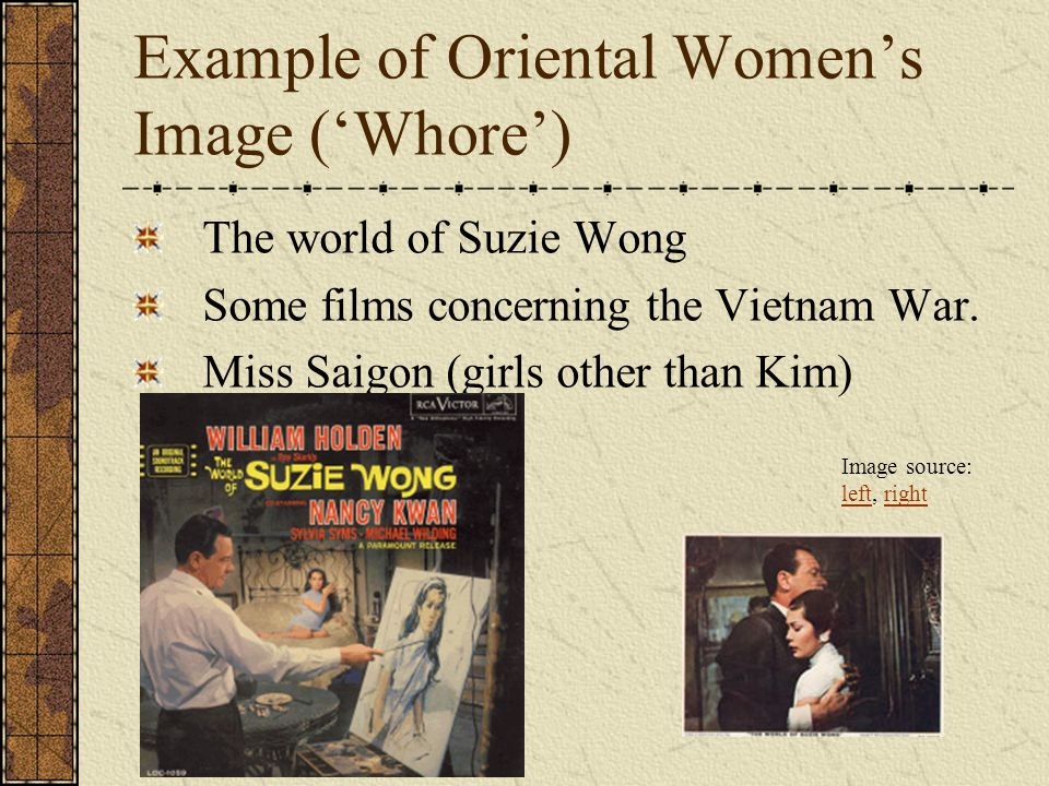 Example of Oriental Women's Image ('Whore')