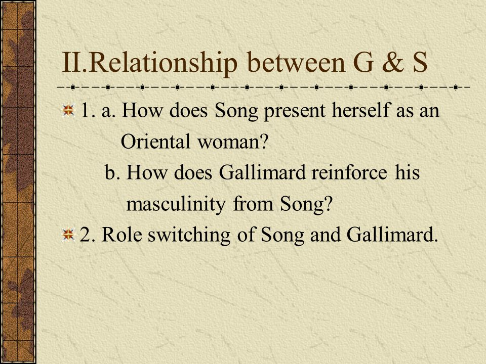 II.Relationship between G & S