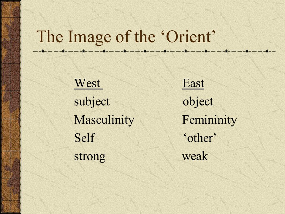 The Image of the 'Orient'
