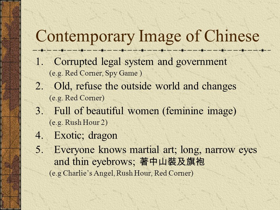 Contemporary Image of Chinese