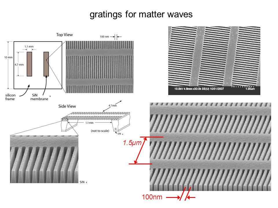 gratings for matter waves