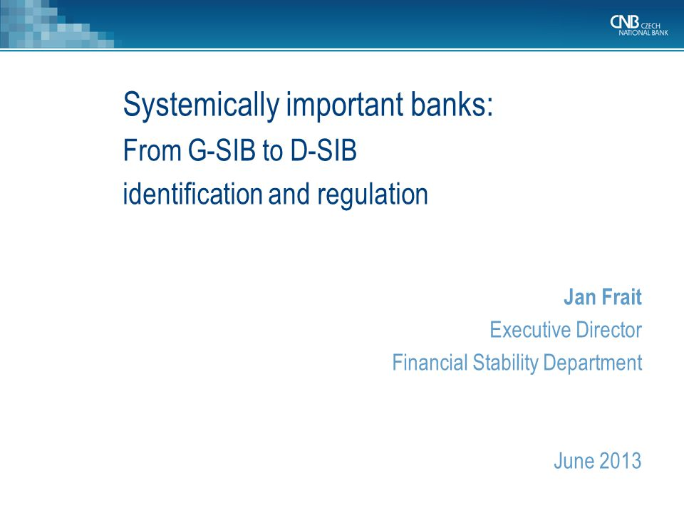 Systemically important banks: