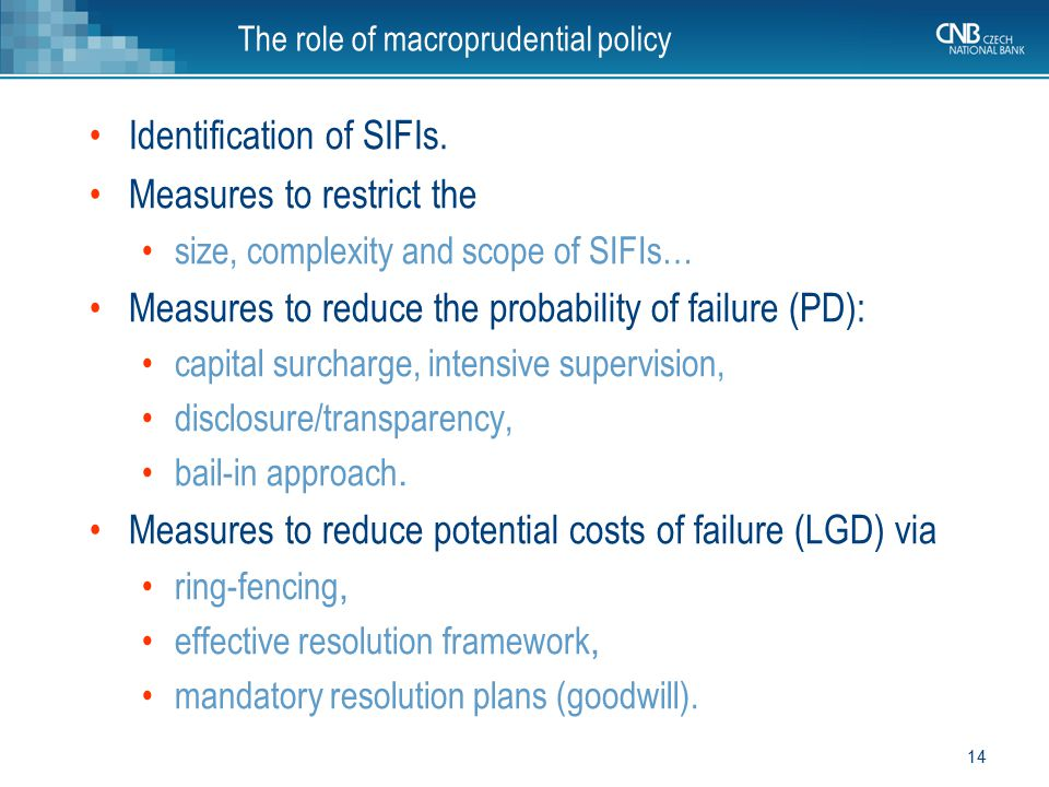 The role of macroprudential policy