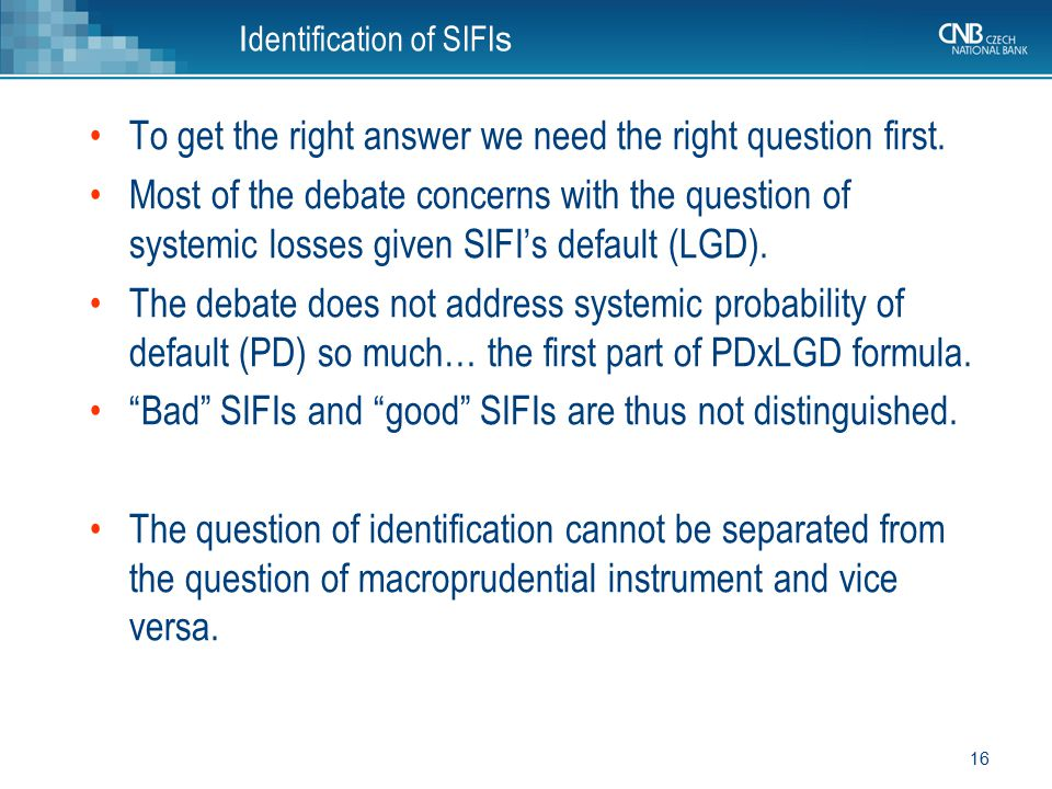 Identification of SIFIs