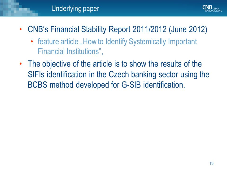 CNB's Financial Stability Report 2011/2012 (June 2012)