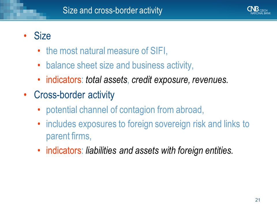 Size and cross-border activity