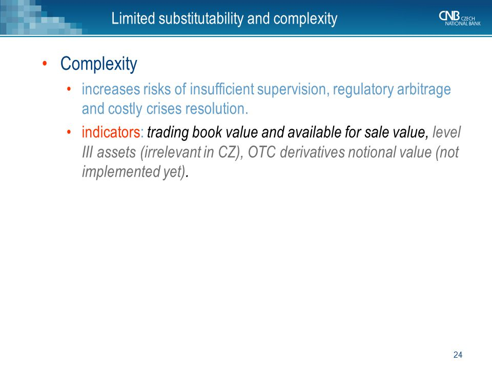 Limited substitutability and complexity