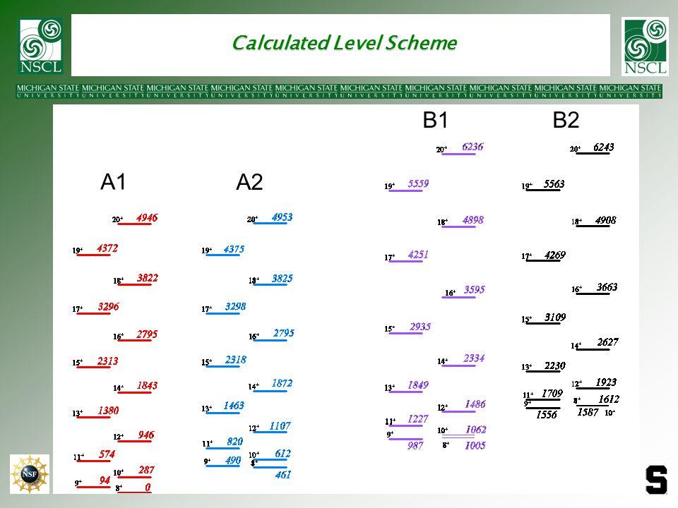 Calculated Level Scheme