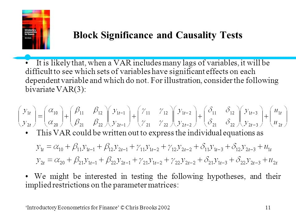 Block Significance and Causality Tests