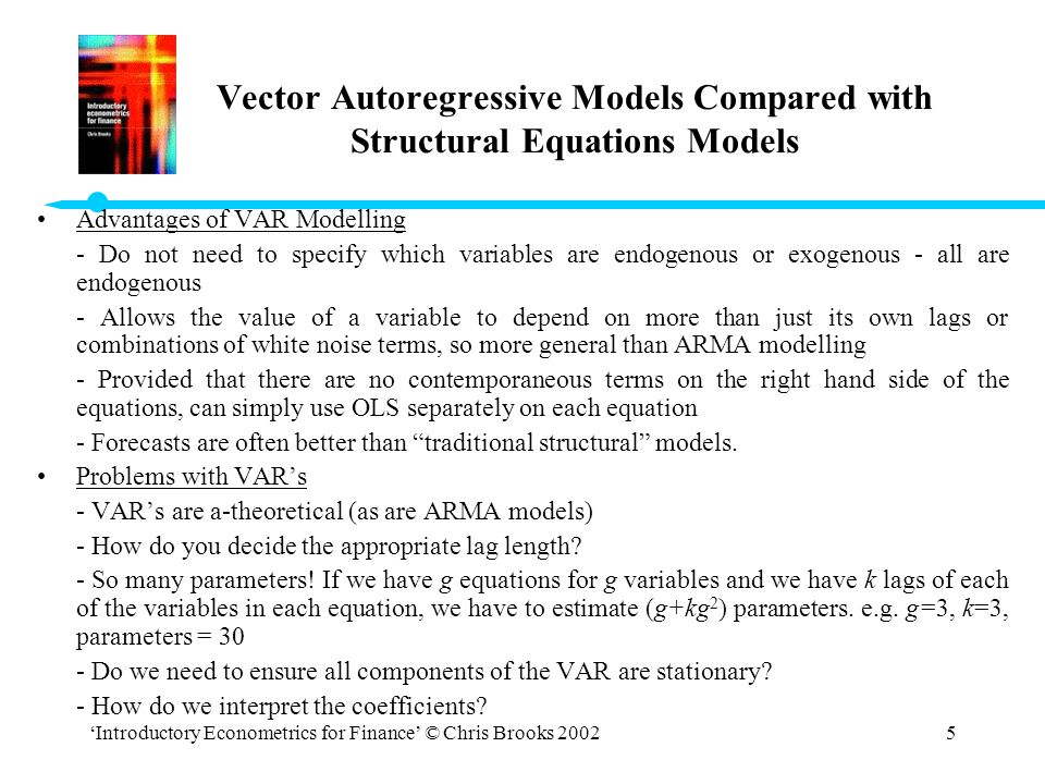 Vector Autoregressive Models Compared with Structural Equations Models
