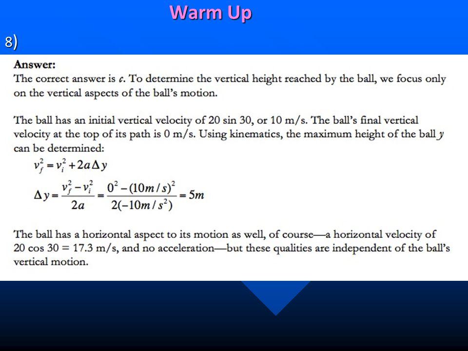 Warm Up 8)