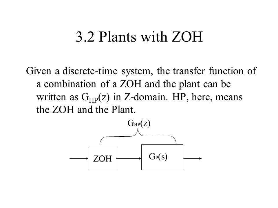3.2 Plants with ZOH