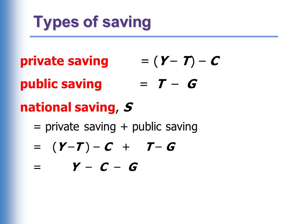 EXERCISE: Calculate the change in saving