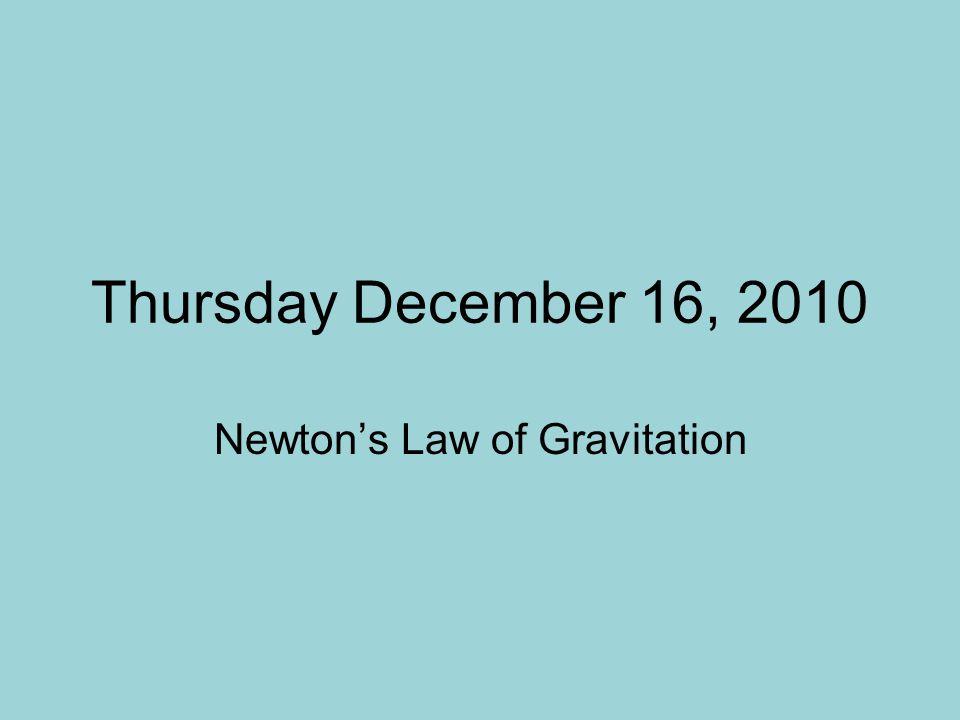 Newton's Law of Gravitation
