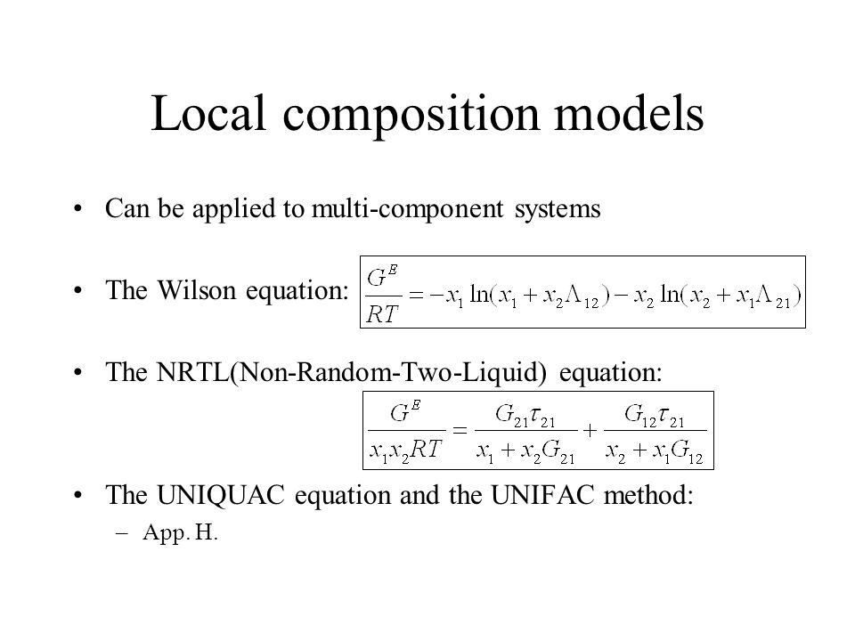 Local composition models