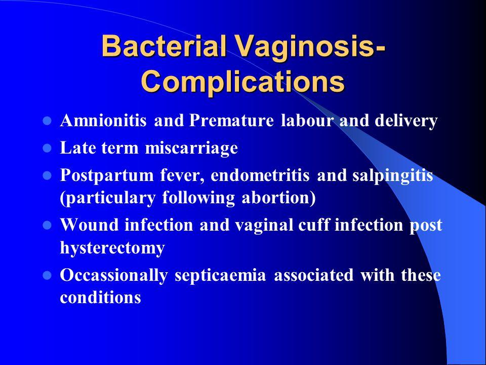 Bacterial Vaginosis-Complications