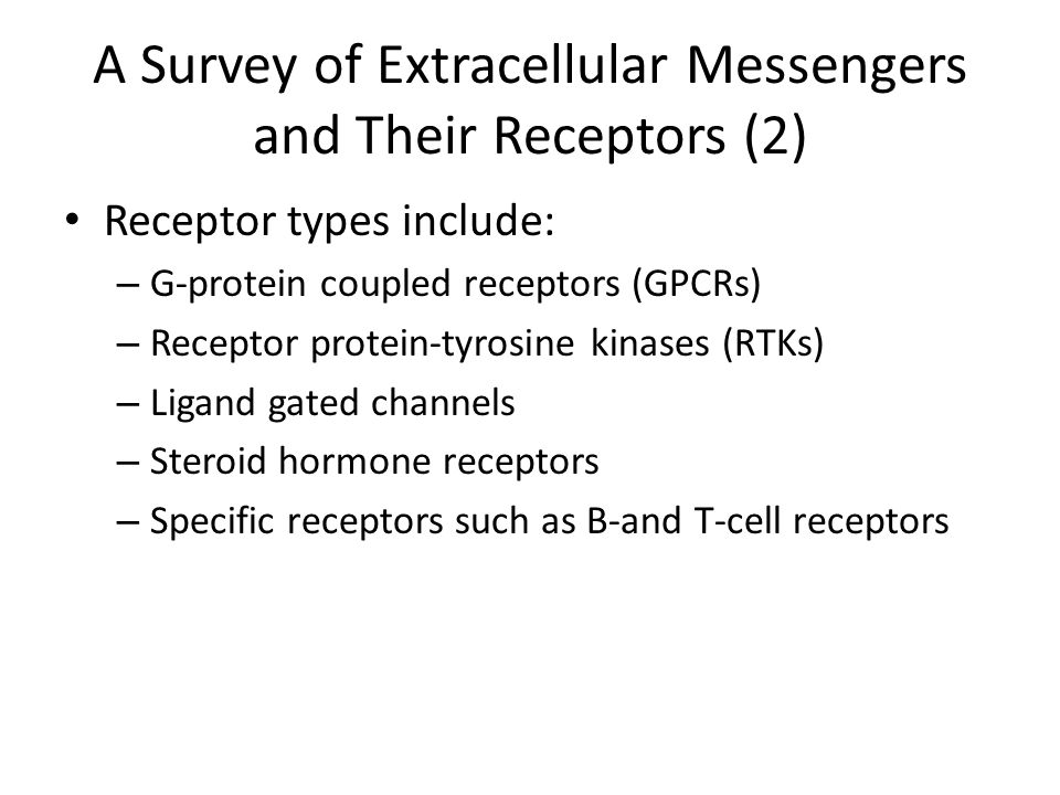 A Survey of Extracellular Messengers and Their Receptors (2)