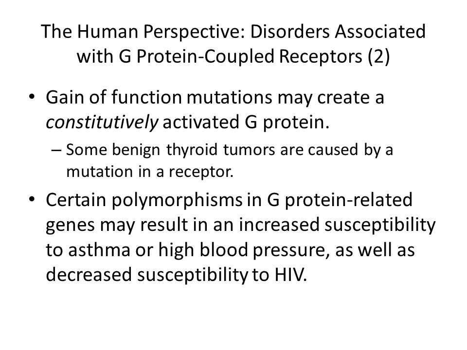 The Human Perspective: Disorders Associated with G Protein-Coupled Receptors (2)