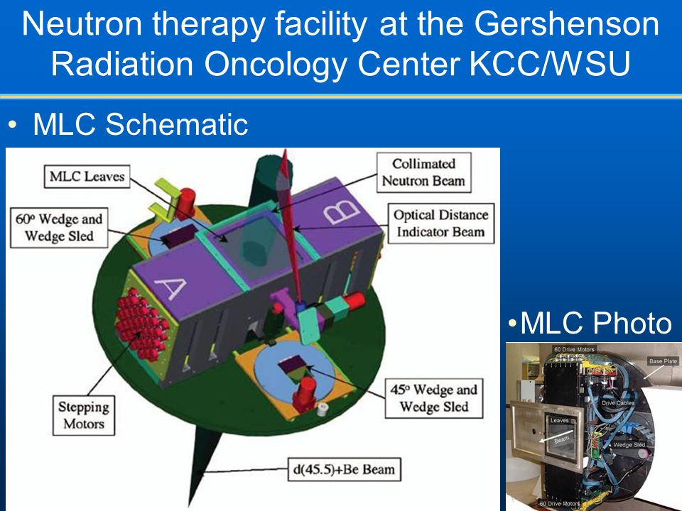 Neutron therapy facility at the Gershenson Radiation Oncology Center KCC/WSU