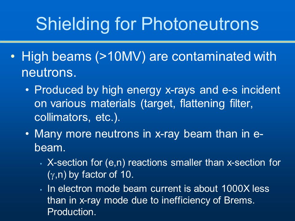 Shielding for Photoneutrons