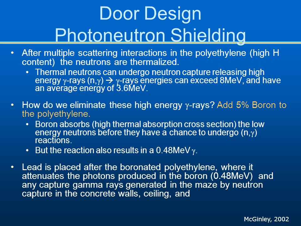 Door Design Photoneutron Shielding