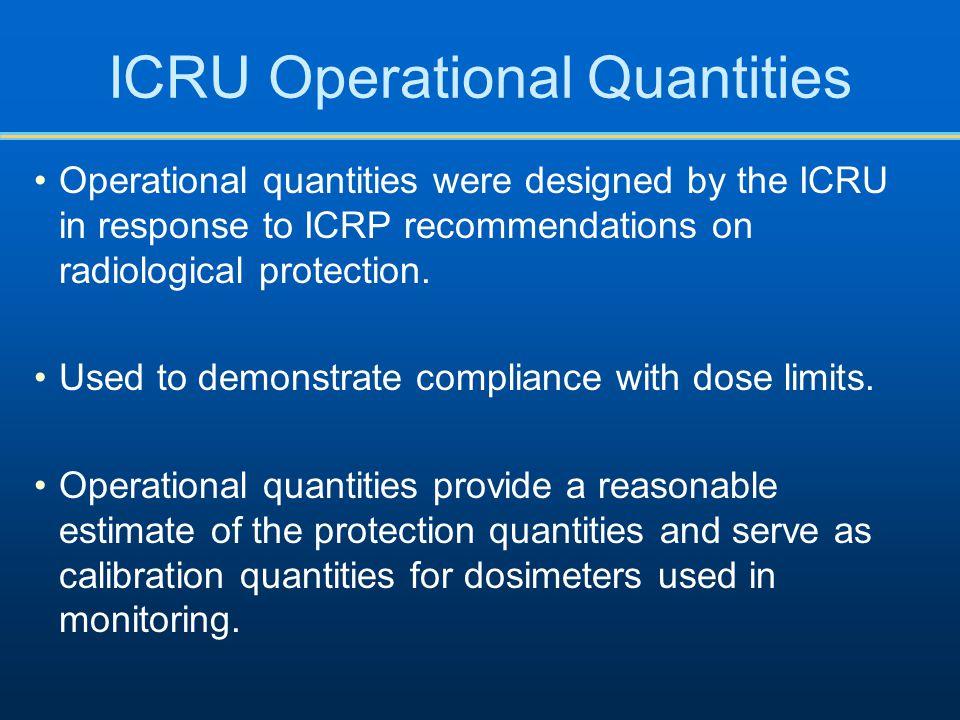 ICRU Operational Quantities