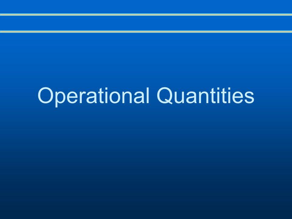 Operational Quantities
