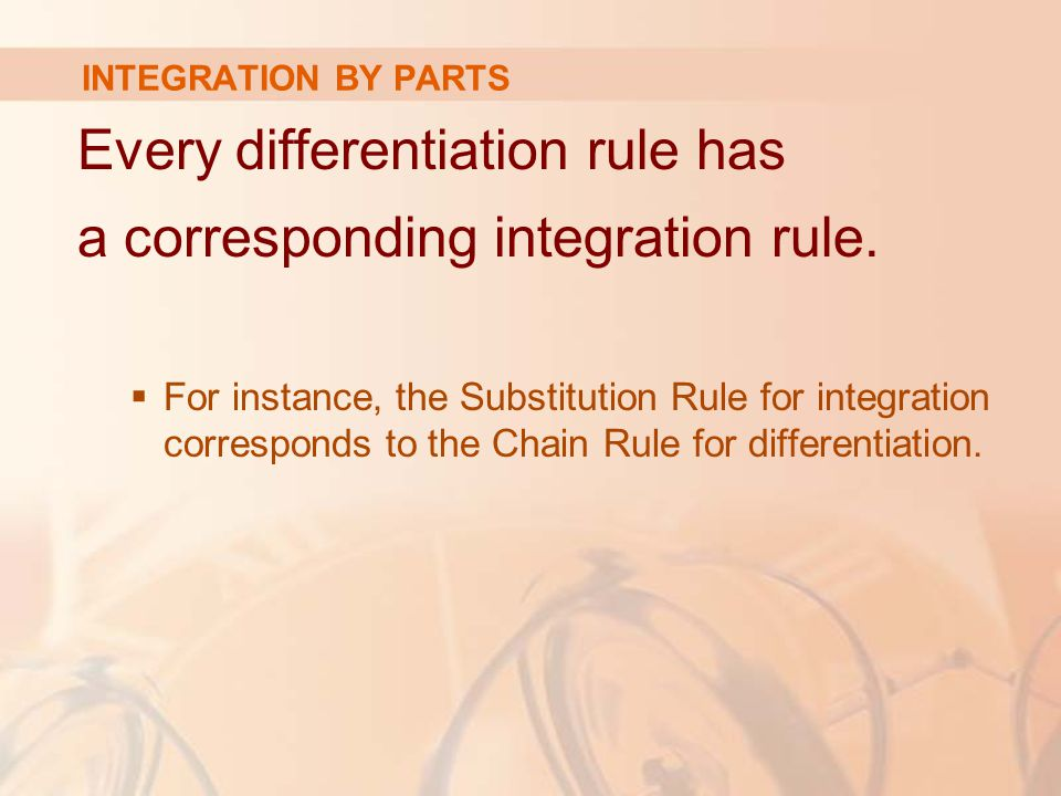 Every differentiation rule has a corresponding integration rule.