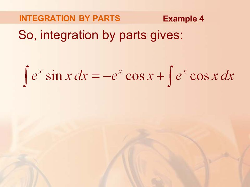 So, integration by parts gives:
