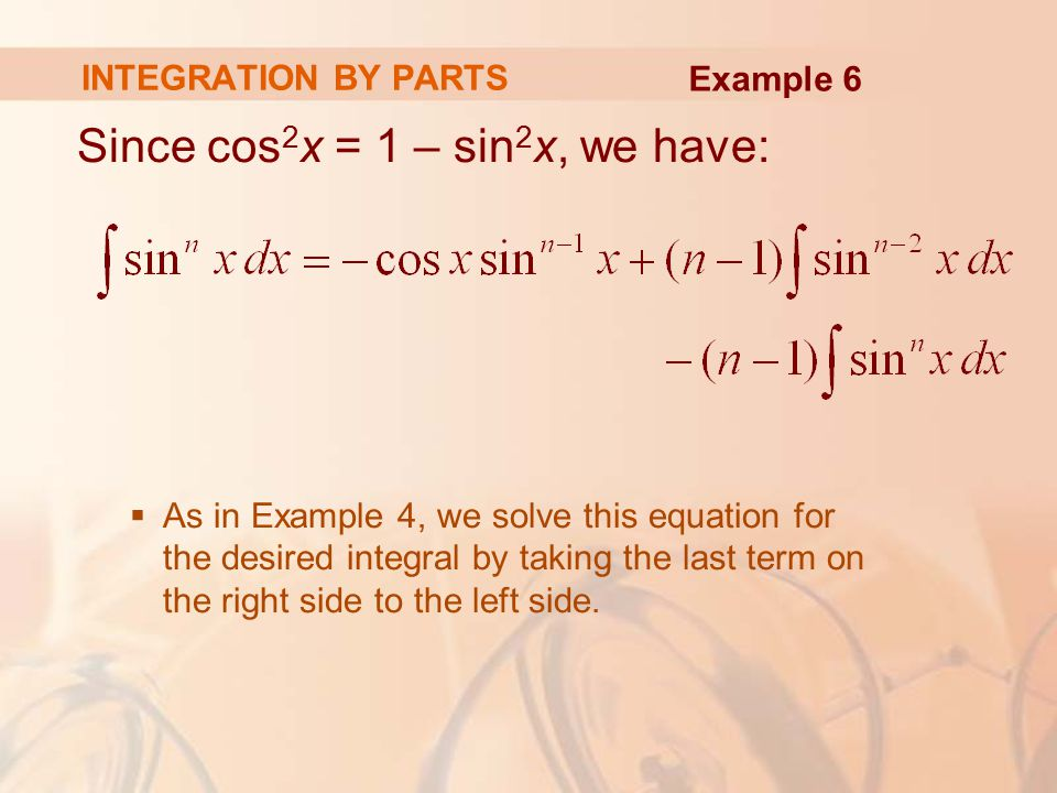 Since cos2x = 1 – sin2x, we have: