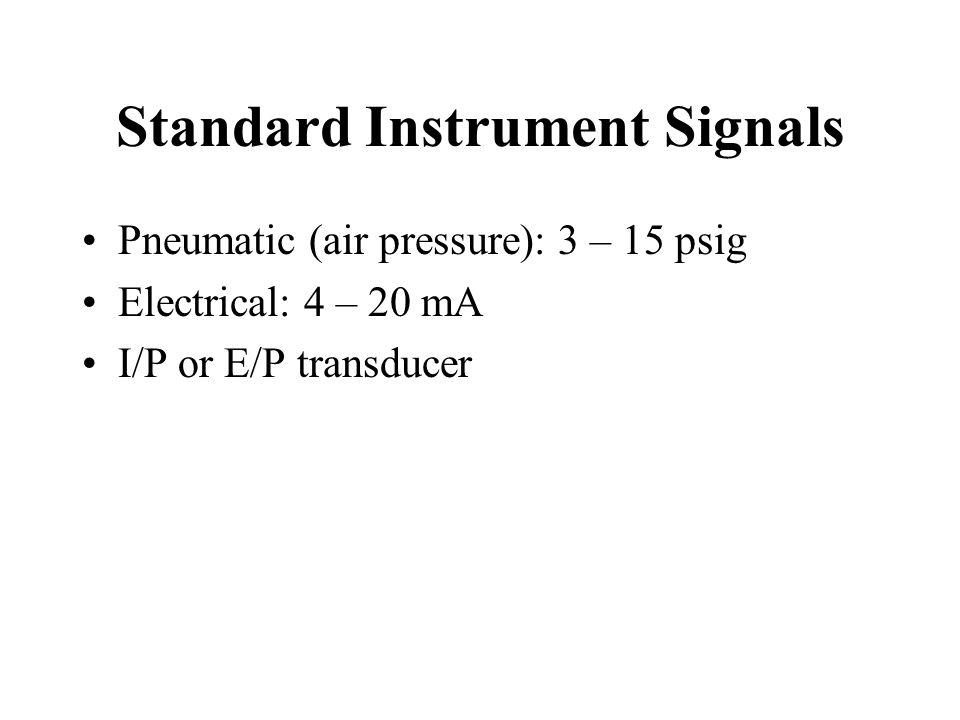 Standard Instrument Signals