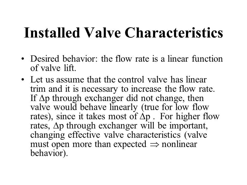 Installed Valve Characteristics