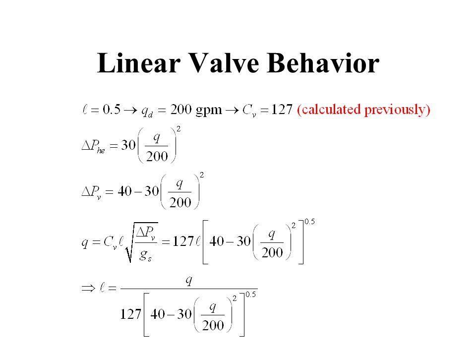 Linear Valve Behavior