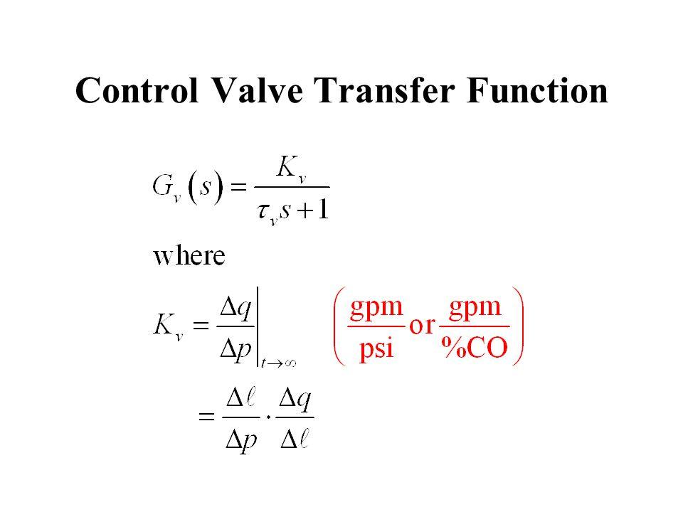 Control Valve Transfer Function