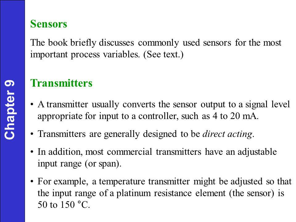 Chapter 9 Sensors Transmitters