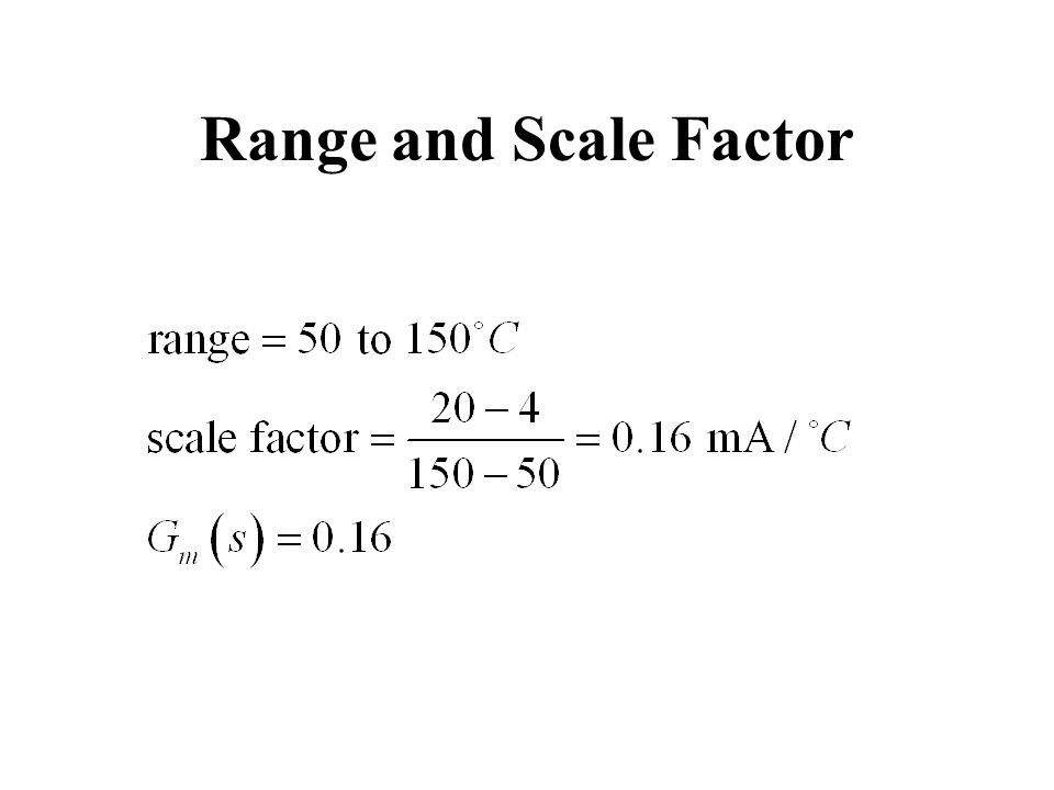 Range and Scale Factor