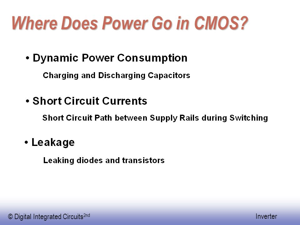 Where Does Power Go in CMOS