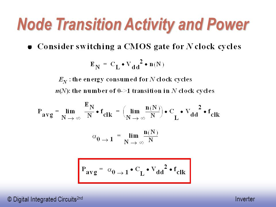 Node Transition Activity and Power