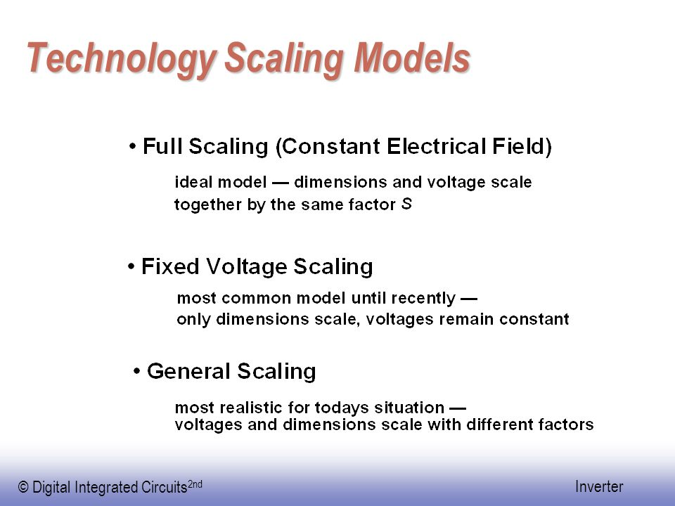 Technology Scaling Models