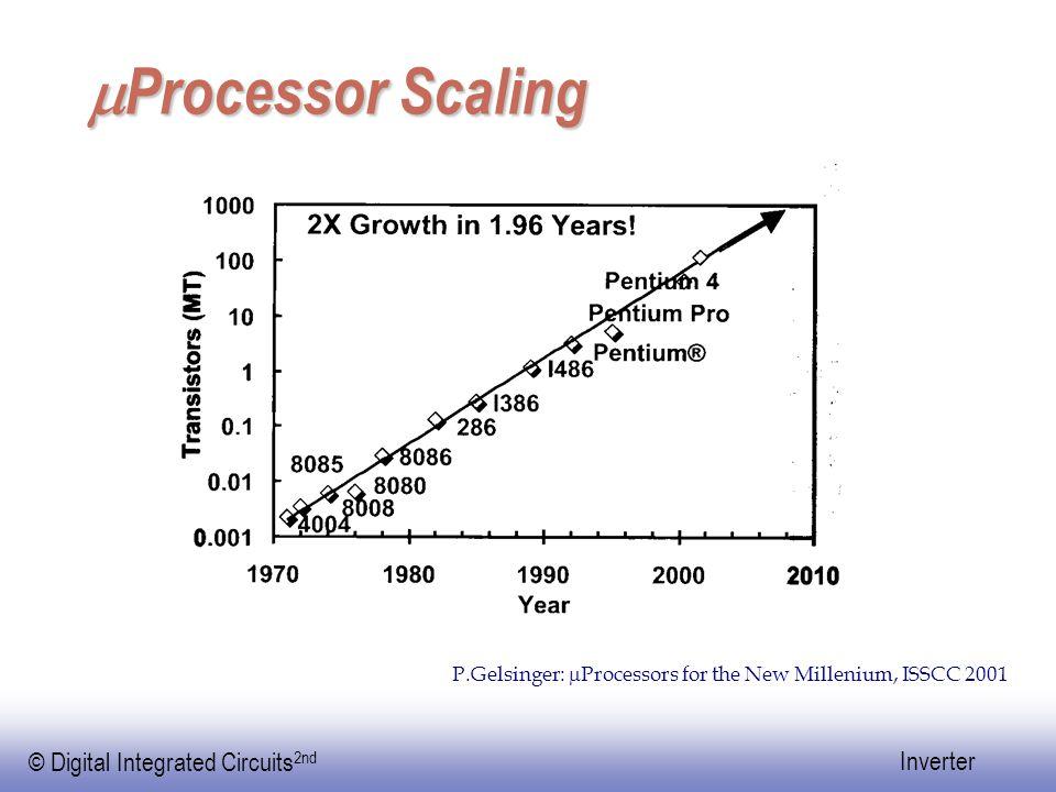 mProcessor Scaling P.Gelsinger: mProcessors for the New Millenium, ISSCC 2001