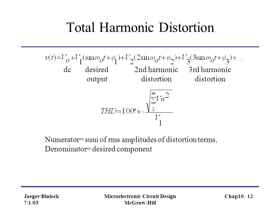 Total Harmonic Distortion