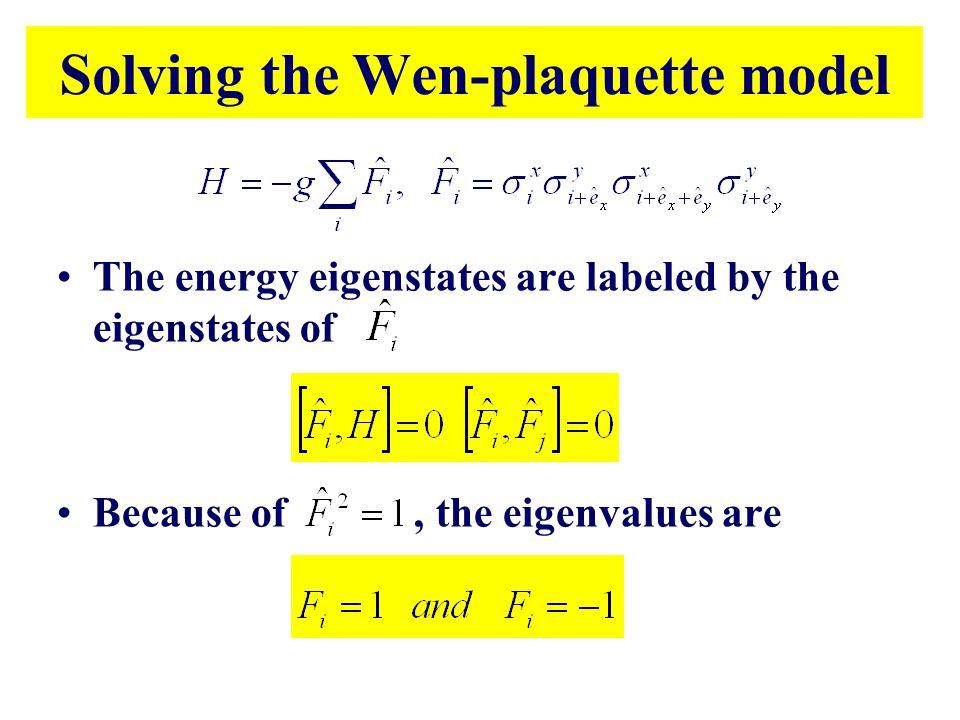 Solving the Wen-plaquette model